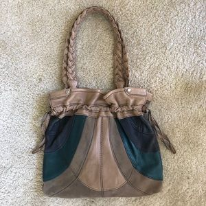 Rare Fossil Fifty-Four Leather Bag